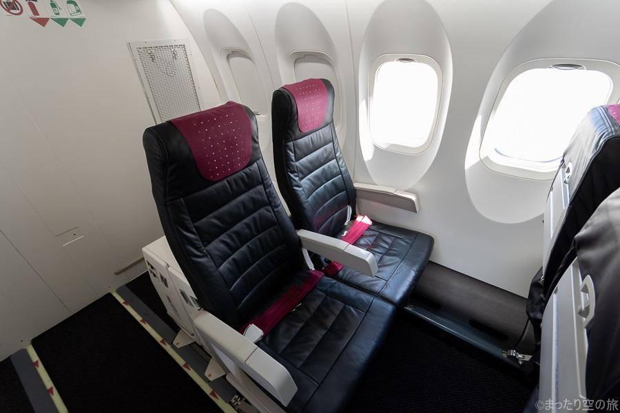 機体最後部の普通席