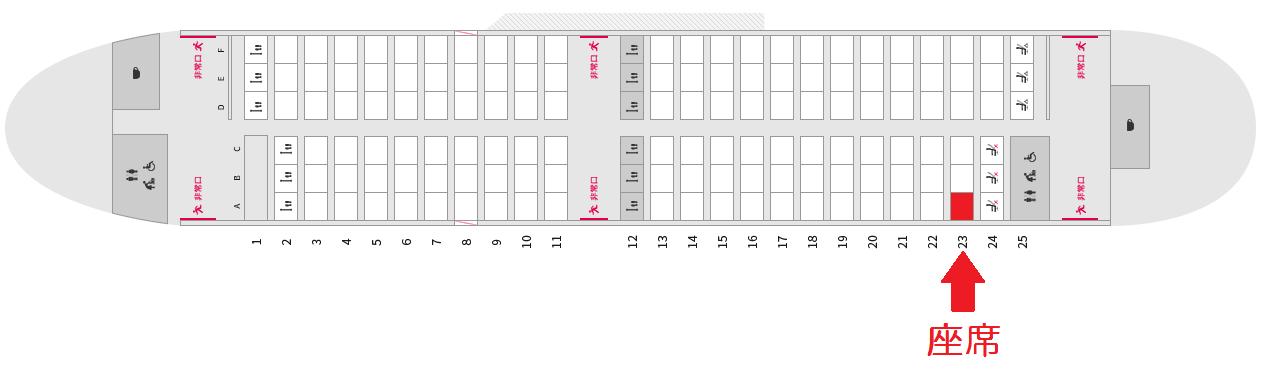 エアドゥのB737-700の座席表