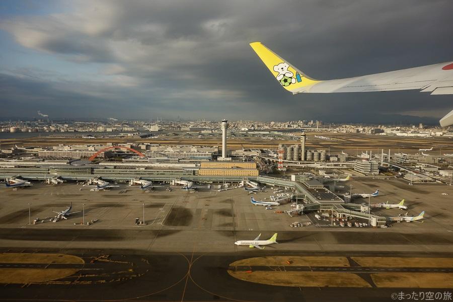 羽田空港C滑走路からの離陸風景