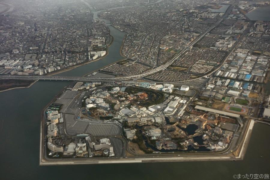 上空から見えた東京ディズニーリゾート