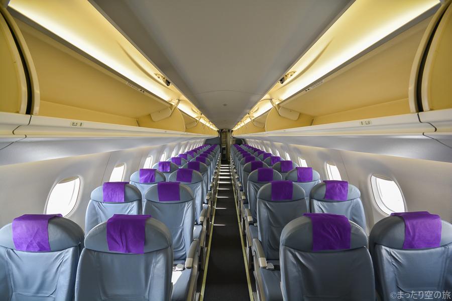 E175型機の機内