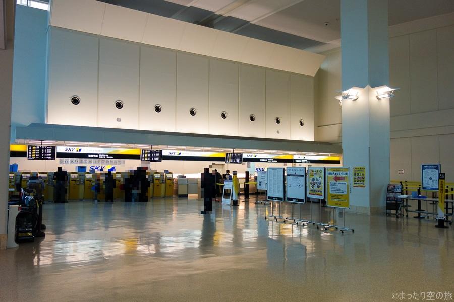 那覇空港の搭乗手続きカウンター