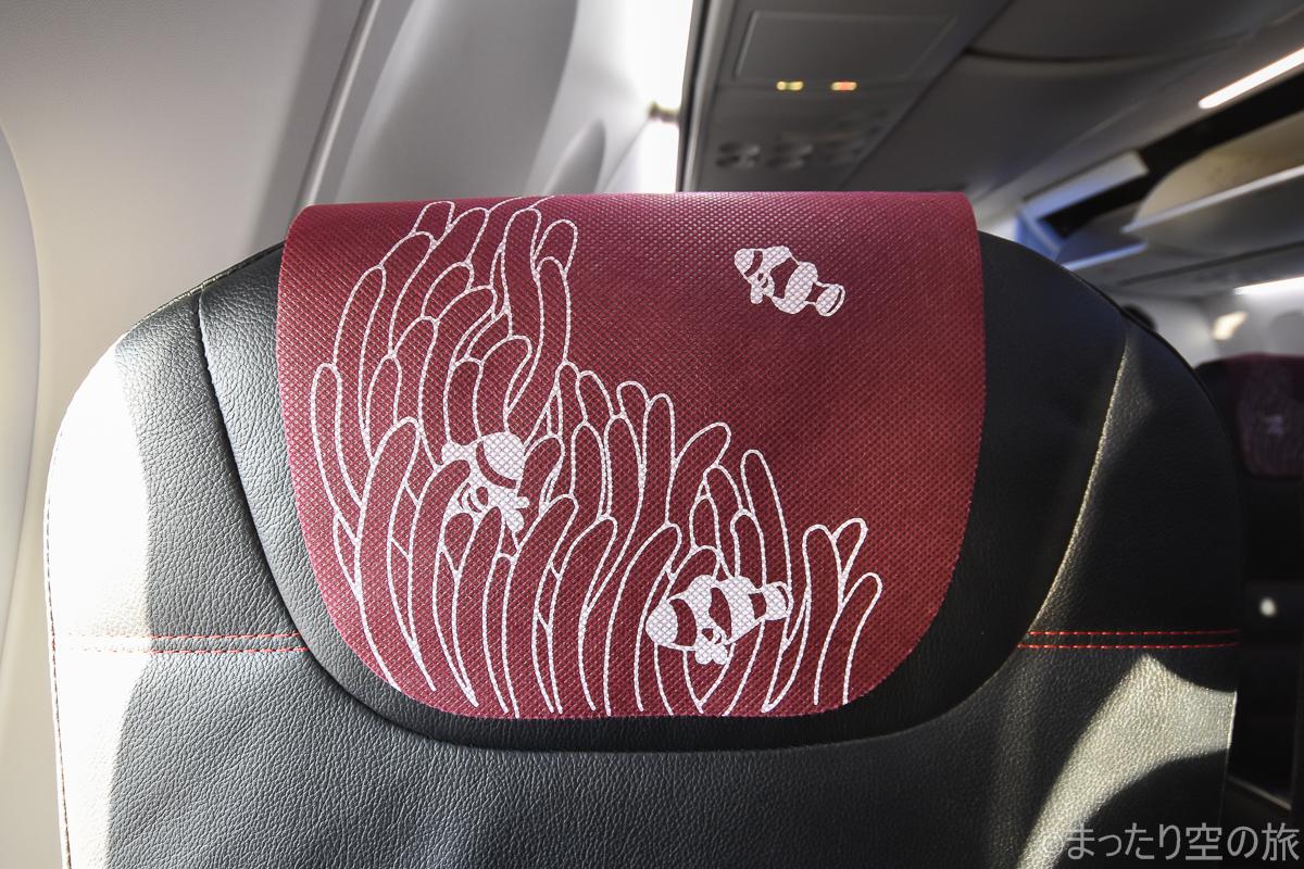 熱帯魚が描かれたヘッドカバー
