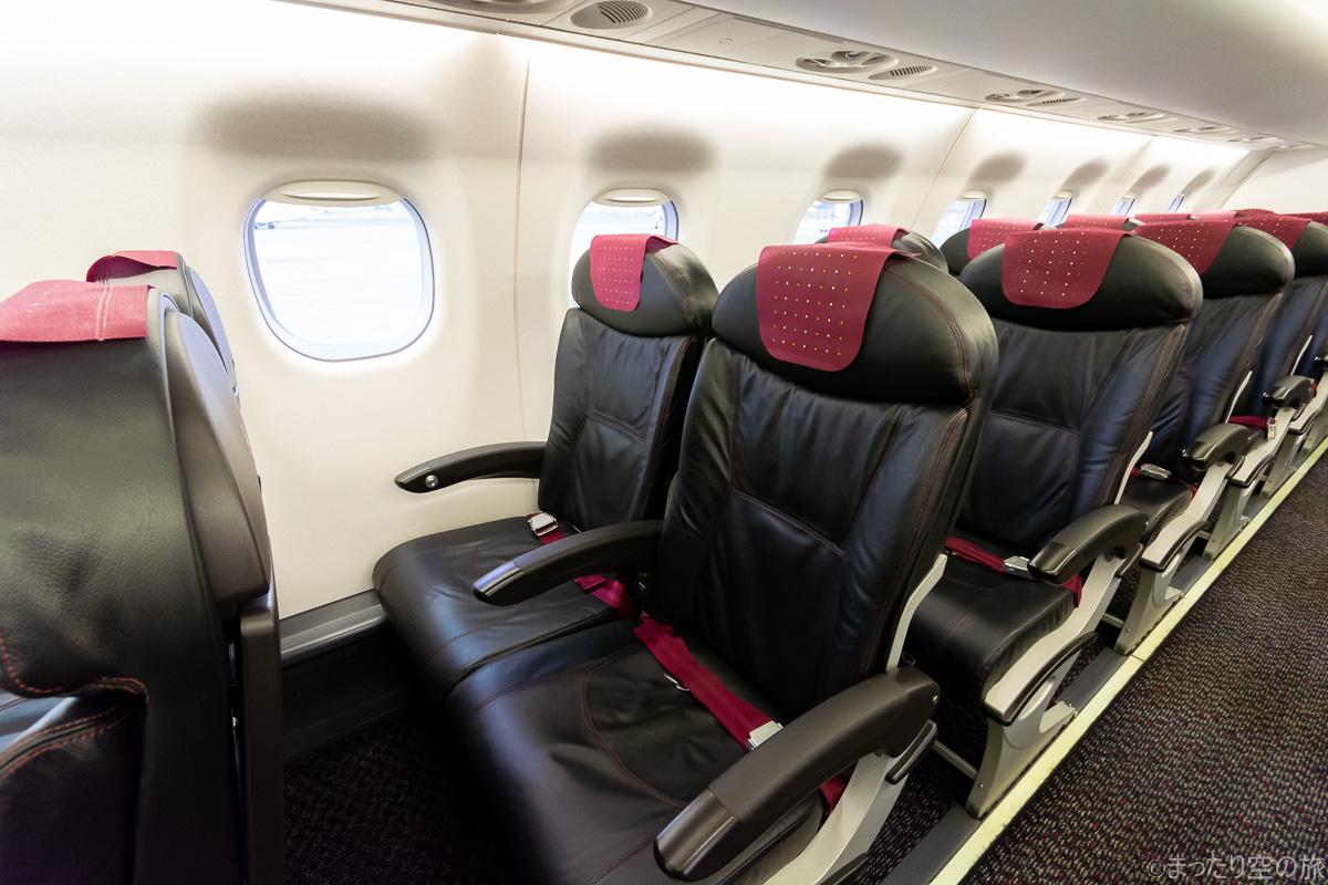 今回の普通席の座席