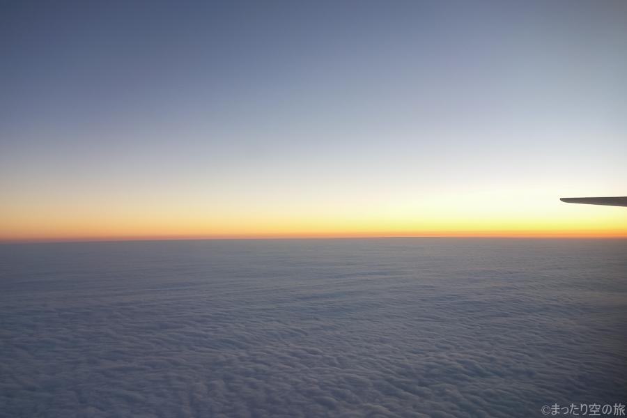 機内から見えある水平尾翼
