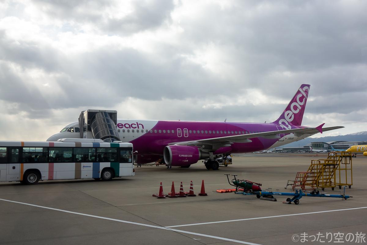 今回の搭乗機のA320(JA814P)