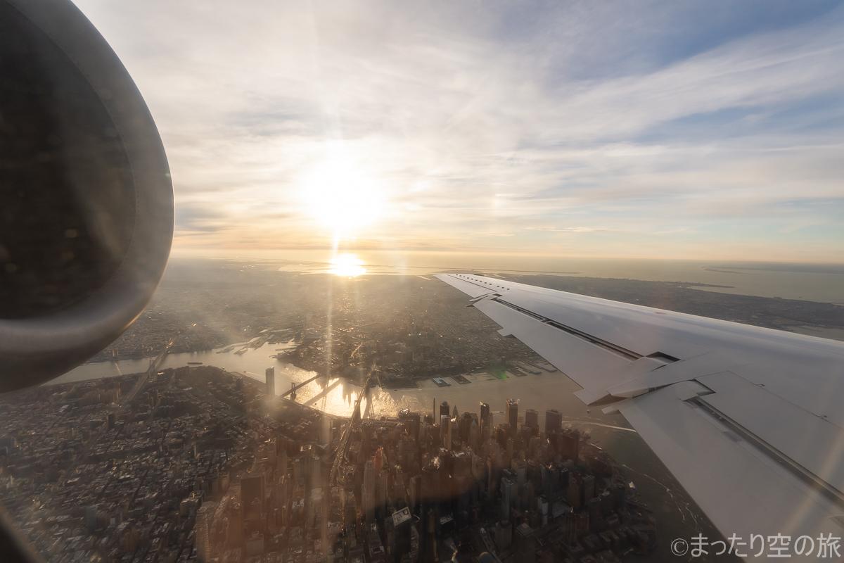 マンハッタン上空の景色