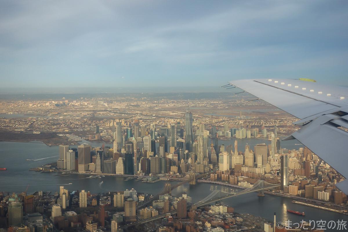 機内から見えたワンワールドトレードセンター