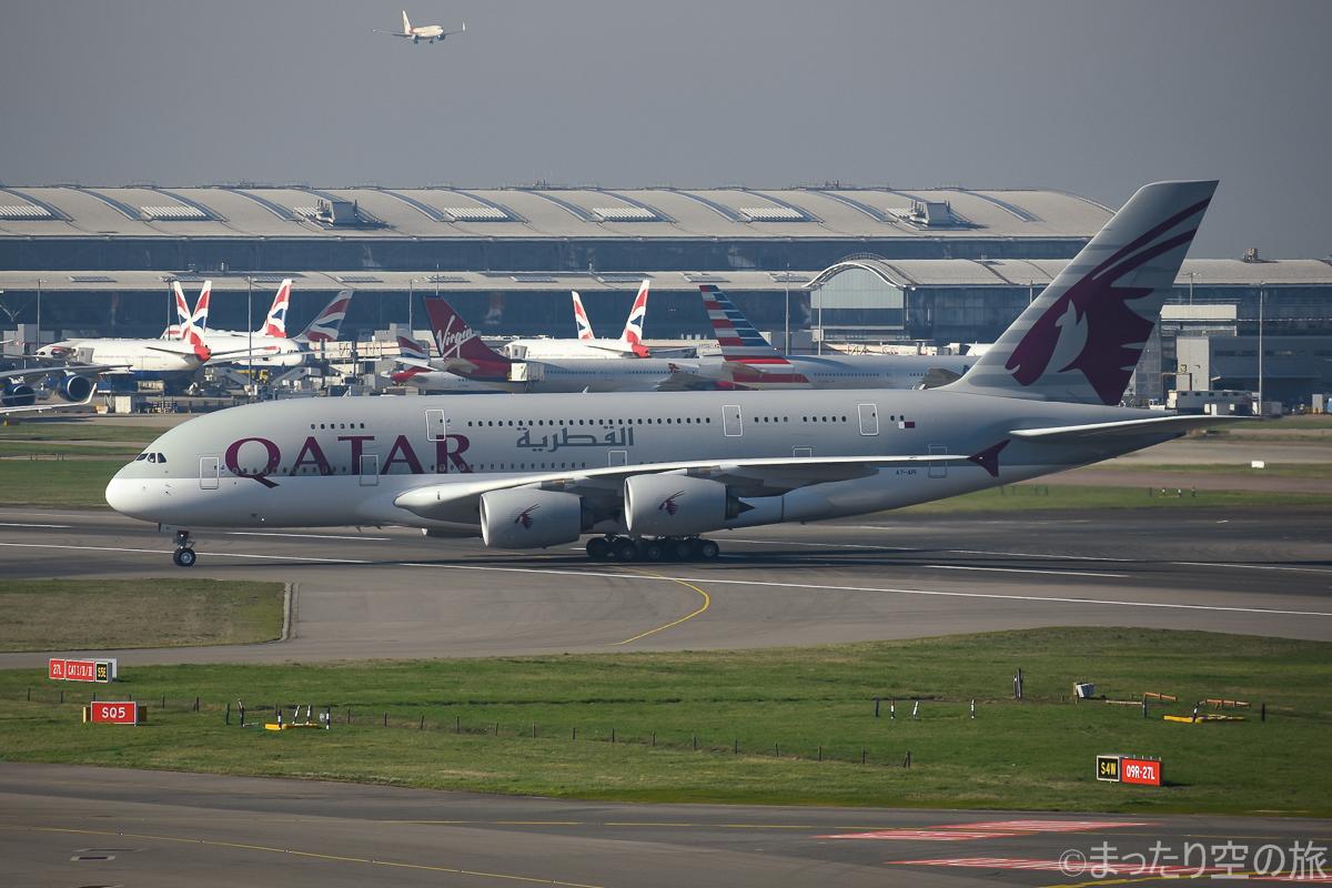 今回の搭乗機のカタール航空のA380
