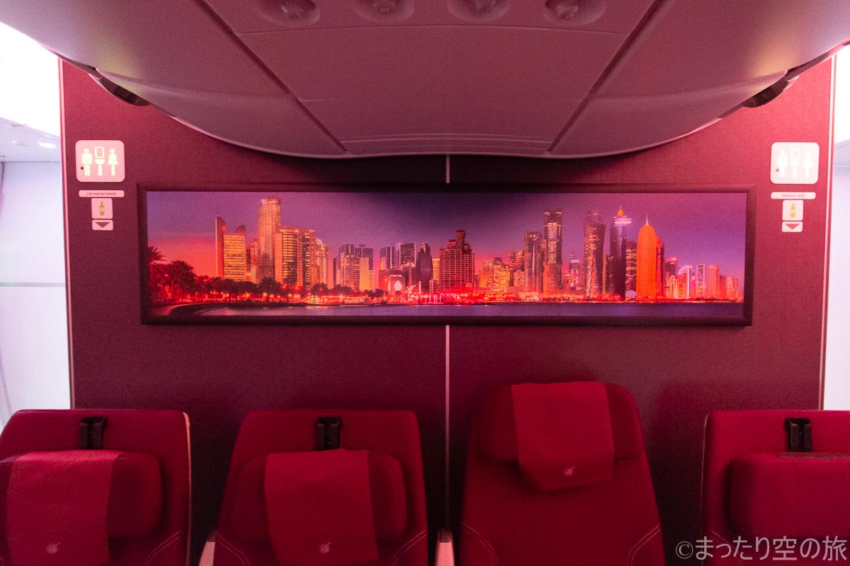 機内に飾られた写真