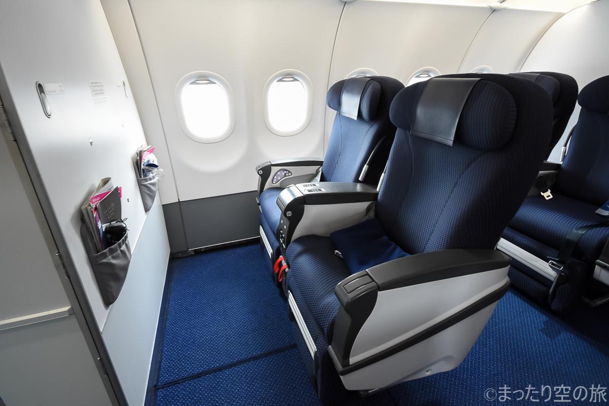 A321ceoのプレミアムクラスの座席