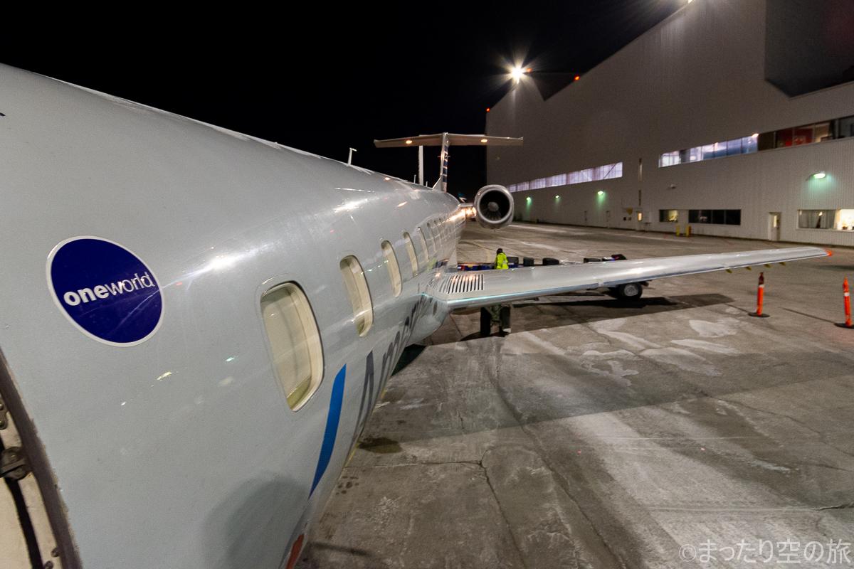 ドアから望む機体の景色
