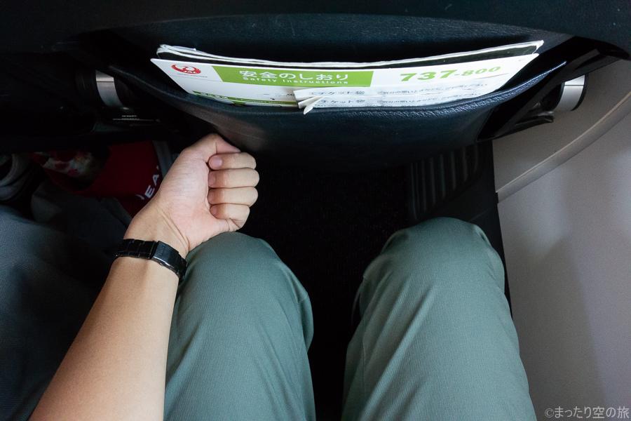 JTAの座席の足元間隔