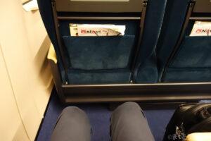 E7系・W7系のグリーン車の座席の足元広さ