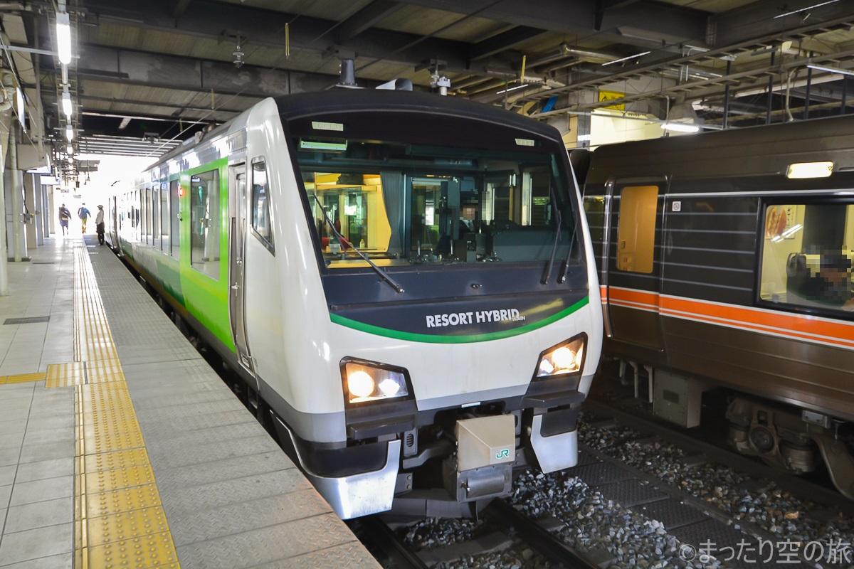 長野駅に停車するリゾートビューふるさと