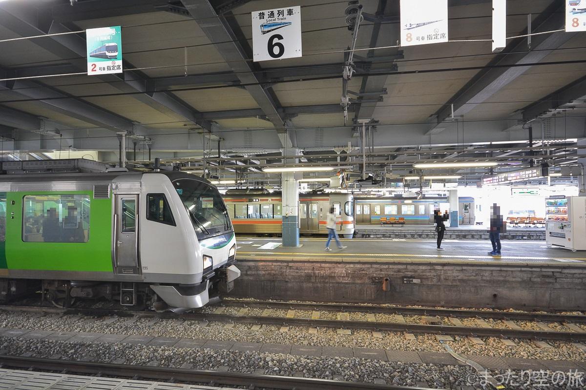 松本駅到着時の様子