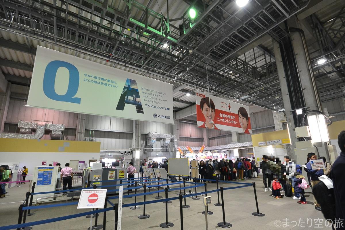 那覇空港のLCCターミナル内部