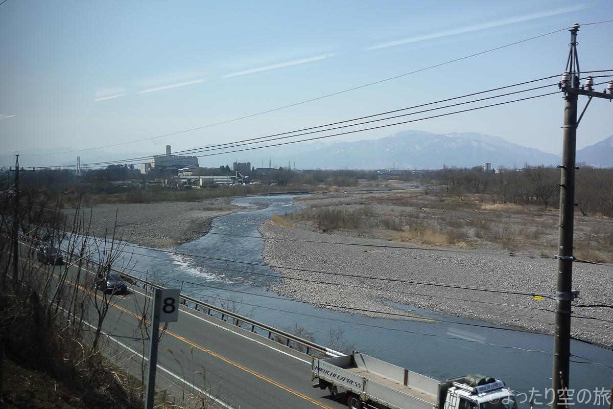 梓川と奈良井川の合流地点