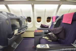 タイ国際航空のビジネスクラス