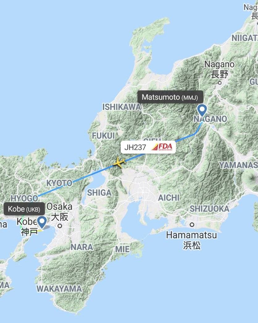 神戸便のルート