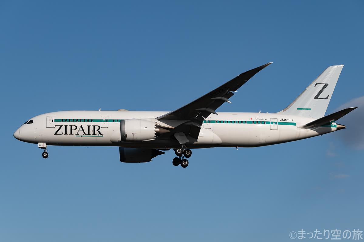 ZIP AIRのB787-8型機