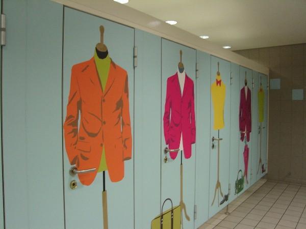 シャルル・ド・ゴール国際空港のお洒落なトイレ
