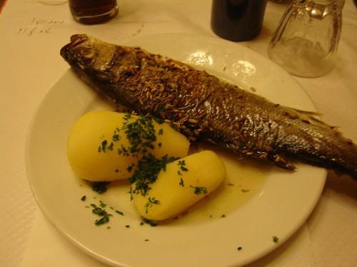 パリにて食べた魚料理