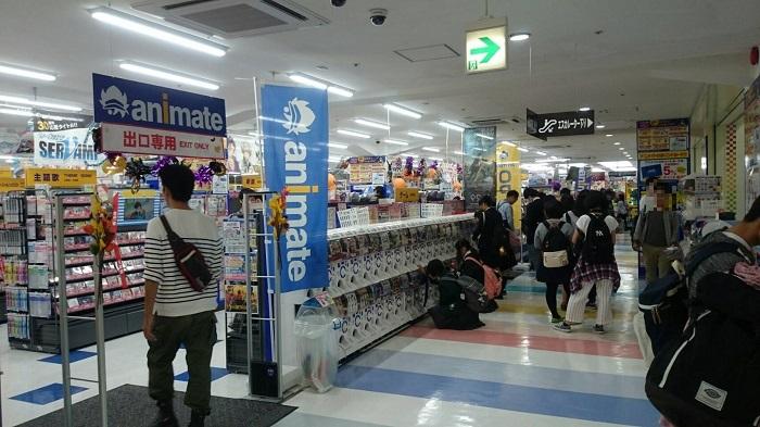 アニメイト長野店の様子