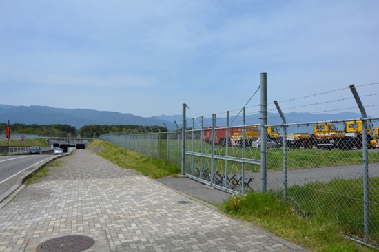 松本空港のトンネル付近の撮影スポット