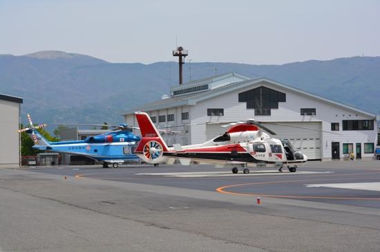 松本空港のヘリ・小型機用のスポット