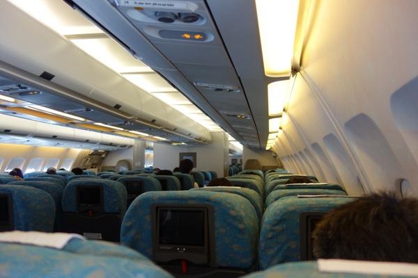 ハノイ行きの機内の様子