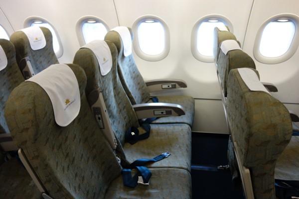 ベトナム航空のA321型機のエコノミークラスのシート