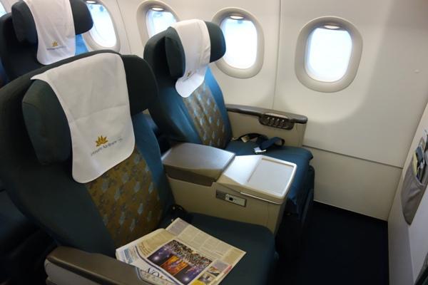 ベトナム航空のA321型機のビジネスクラスのシート