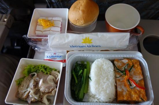 ベトナム航空のライスの機内食