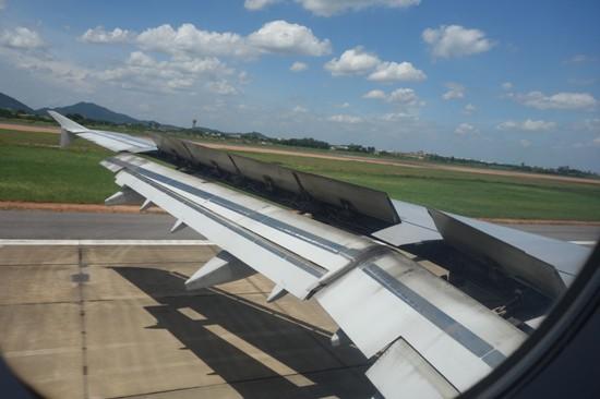 ハノイ・ノイバイ国際空港着陸時の様子