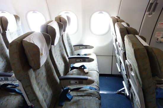 ベトナム航空のA321型機エコノミークラス