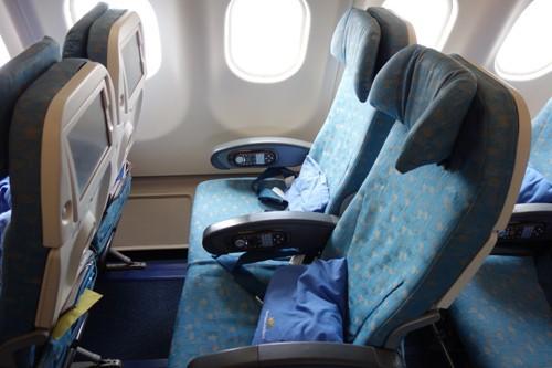 ベトナム航空のA330型機のエコノミークラスの座席