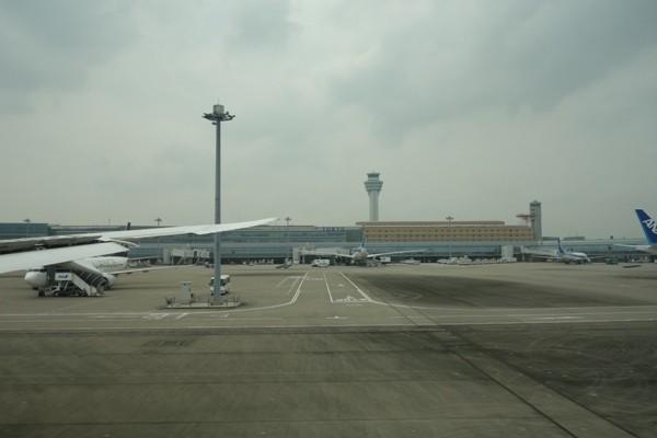 羽田空港タキシング時の様子