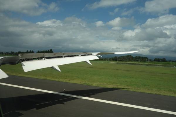 鹿児島空港着陸時の様子