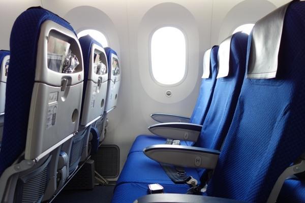 シートとB787特有の大きな窓