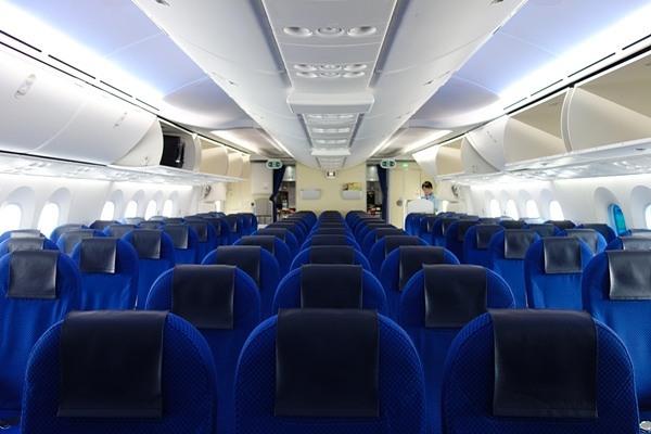 ANAのB787型機の機内