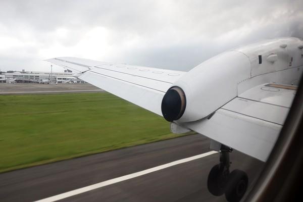 鹿児島空港離陸