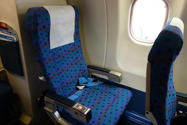 今回の座席の最後部の11A