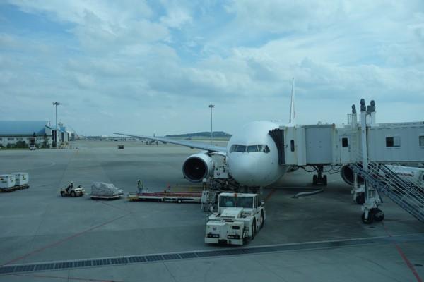 元JAS機のB777-200の搭乗機
