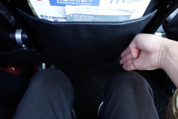 JAL SKY NEXTの普通席の座席の足元の広さ