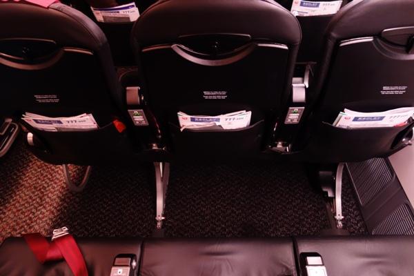 JAL SKY NEXTの普通席の座席の足元スペース