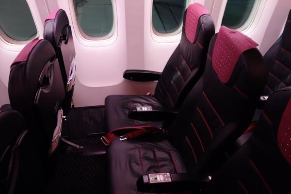 JAL SKY NEXTの普通席の座席