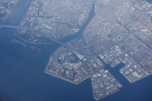 上空から見た東京ディズニーランドの様子