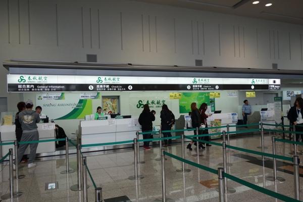 春秋航空・春秋航空日本のカウンター