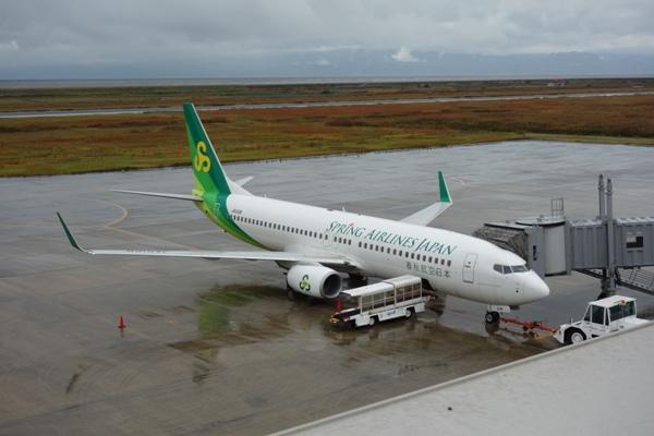 搭乗機の春秋航空日本のB737型機1号機